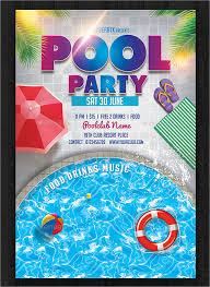 Party Template Free Pool Party Flyer Templates 21 Pool Party Invitations Free Psd