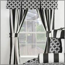 Black And White Striped Curtains Drapes Home