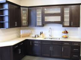 Attractive Kitchen : Awesome Design Of The Kitchen Areas With White Tile And Black  Wooden Kitchen Cabinets