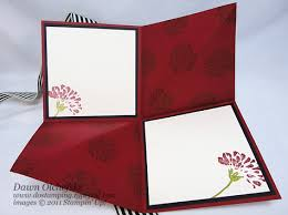 fold card 10 min tue video amazing fold card aka squash fold w stampin