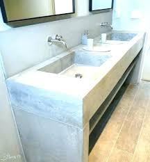 concrete bathroom vanity top sink