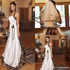discount unique camo wedding dresses with veils vintage chapel