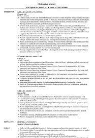 Library Assistant Resume Library Assistant Resume Samples Velvet Jobs 1