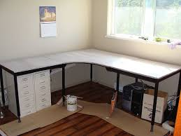 home office shaped. 20 DIY Desks That Really Work For Your Home Office Intended Diy U Shaped Desk Plan 15