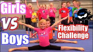s vs boys gymnastics flexibility challenge