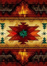 Native Design Blankets Native American Art Southwestern Blankets Native