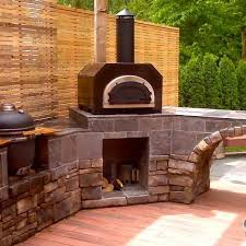 chicago brick oven cbo 500 countertop outdoor wood fired pizza oven copper