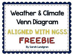 Differences Between Weather And Climate Venn Diagram Freebie Weather And Climate Venn Diagram Ideas For Science