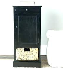 tall black storage cabinet. Black Tall Storage Cabinet Distressed End Table Wicker