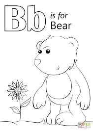 Small Picture Letter B is for Bear coloring page Free Printable Coloring Pages