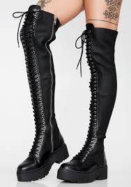 cur mood action scene thigh high boots