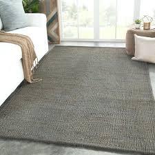 natural solid dark gray area rug 8x10