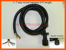 wire trailer harness 7 way trailer light plug wire harness molded end 6 ft heavy duty rv camper cord