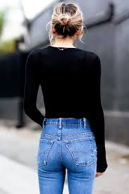 Womans ass in jeans