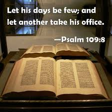Image result for Psalm 109:8