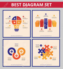 Editable Chart Templates Business Diagram Set Editable Templates For Bar Chart Process