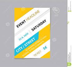 vector event brochure flyer template design a size stock vector vector event brochure flyer template design a5 size