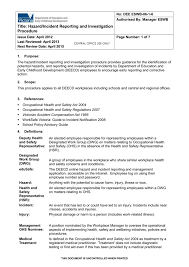 Whs Incident Report Template Corto Foreversammi Org