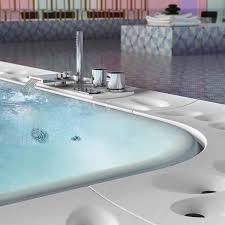 modern spa bathtub with circulating overflowed water features bathtub overflow
