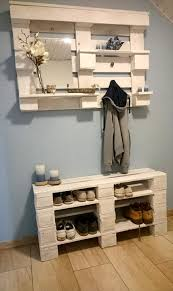 wood pallet furniture ideas. wonderful wood pallet storage ideas for the entrance and wood furniture n