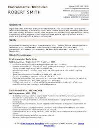 Environmental Technician Resume Samples Qwikresume