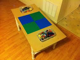 lego table with bins