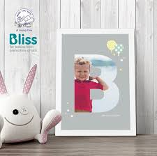 a4 baby alphabet b personalised poster