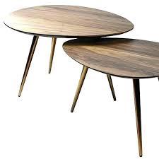target mid century modern mid century modern coffee table nesting set walnut wood brass target