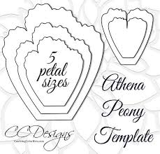 large templates giant paper peonies printable pdf flower templates peony pdf