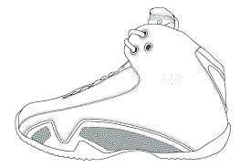 Air Jordan Coloring Book Pages Coloring Page Shoe Coloring Pages
