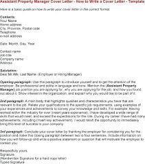 Apartment Property Manager Cover Letter Picture Collection Website