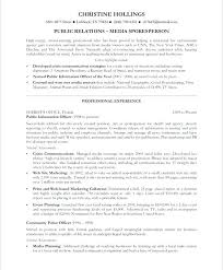 Resume For Police Officer Marketing Advertising Resume Marketing Sample Resume Police Officer