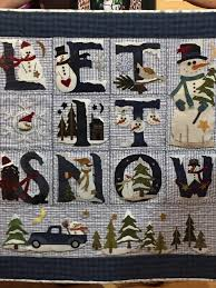 2738 best Quilting - Children's, Novelty and Holiday images on ... & Let it snow, done by Jill West Adamdwight.com
