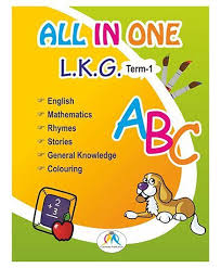 all in one book for lkg term 1 english