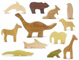 essential classic wooden animal toy set