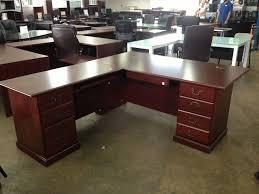 image of large l shaped desk drawers