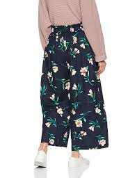 Moon River Womens Paperbag Waist Pleated Wide Leg Cropped