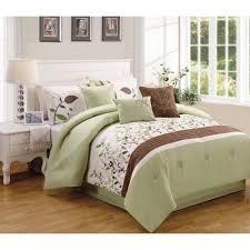 better homes and gardens 7 piece sage brown vines bedding comforter set com