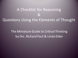 Thinking Controls     Foundation for Critical Thinking