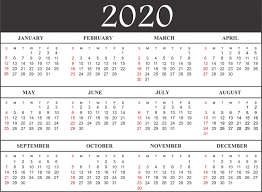 Template For 2020 Calendar Free Blank Printable Calendar 2020 Template In Pdf Excel