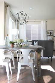 lovesome make it a farmhouse table farmhouse table with metal chairs