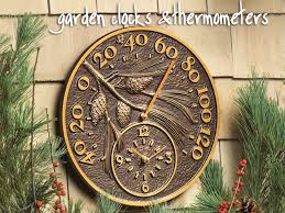 image gallery garden clocks thermometers