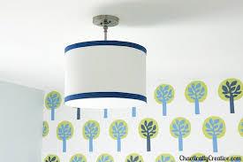 drum light fixture. DIY Drum Light Fixture