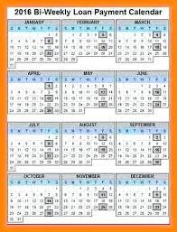 Payroll Calendar Template Bi Weekly Monthly 2017 – Helenamontana.info