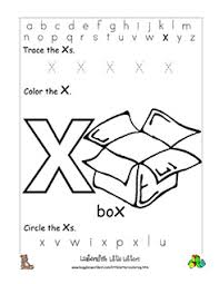 Customize your coloring page by changing the font and text. Letter X Alphabet Worksheets