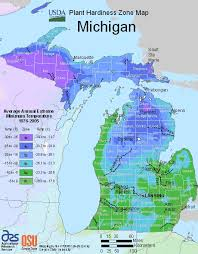 Michigan Growing Zone Map For Plant Hardiness