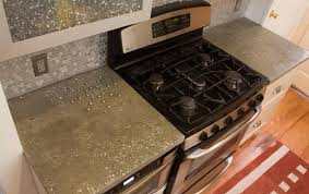 a 1 2 inch thick countertop made with integral color and recycled glass aggregate