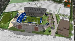 rice university football stadium.  Football PLANNING PHASE An Artistu0027s Rendering Shows A New Facility Near The End  Zone Suites To Rice University Football Stadium L