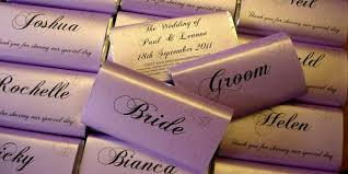 place setting personalised chocolate bar