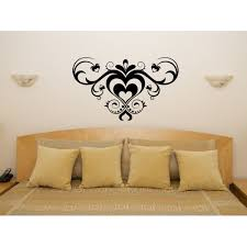 fancy heart design bedroom and living room wall art decal sticker picture on wall art heart designs with fancy heart design bedroom and living room wall art decal sticker